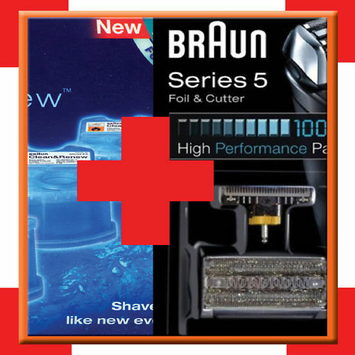 braun kombipack 8000 51s series 5 braun ccr3 lemon ebay. Black Bedroom Furniture Sets. Home Design Ideas