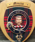 Scottish Gifts Menzies Family Clan Crest Wall Plaque