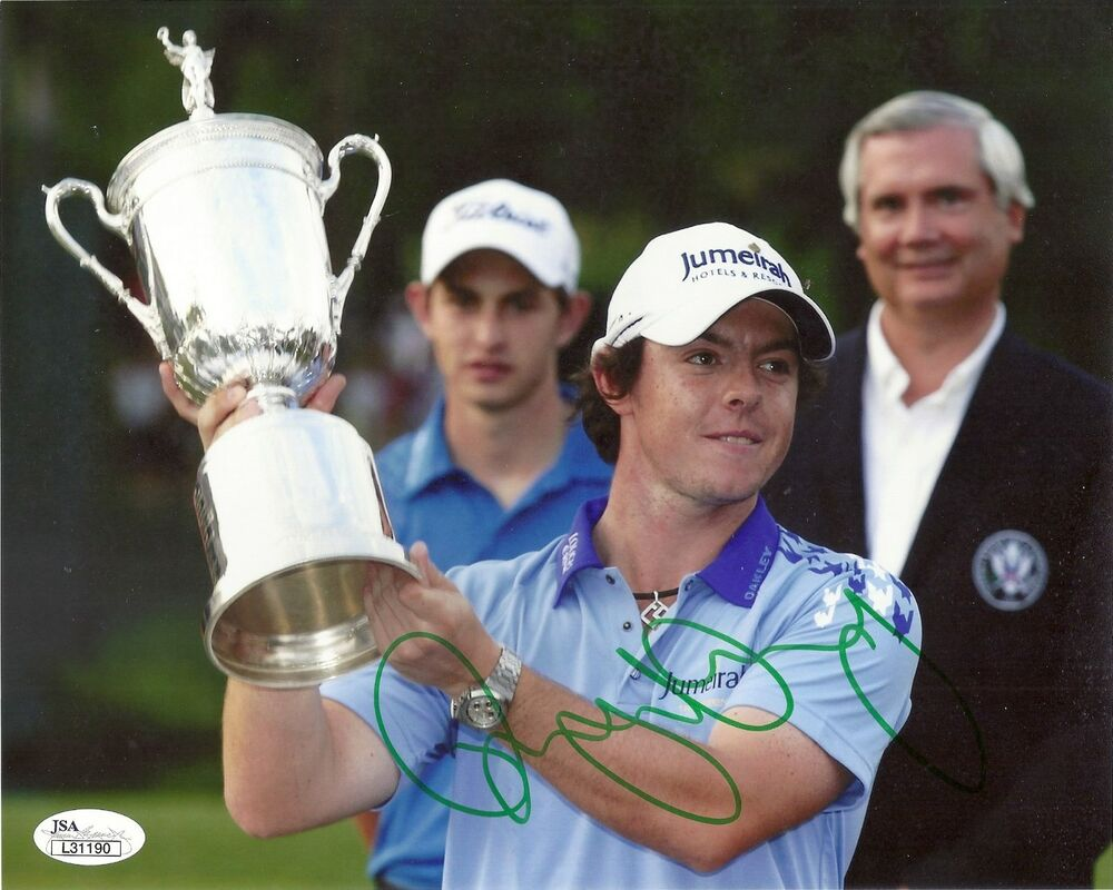 4cac4ad63c4 Details about RORY MCILROY PGA GOLF SIGNED 8X10 PHOTO W JSA COA US OPEN  3