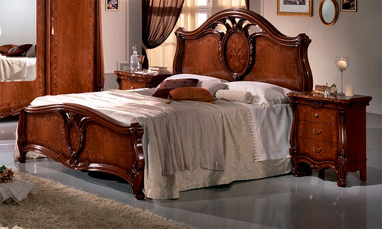 klassisches doppelbett 160x200 luxus italienische m bel. Black Bedroom Furniture Sets. Home Design Ideas