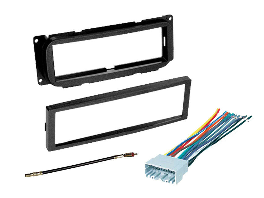 stereo radio install dash mount kit wire harness for dodge jeep chrysler ebay