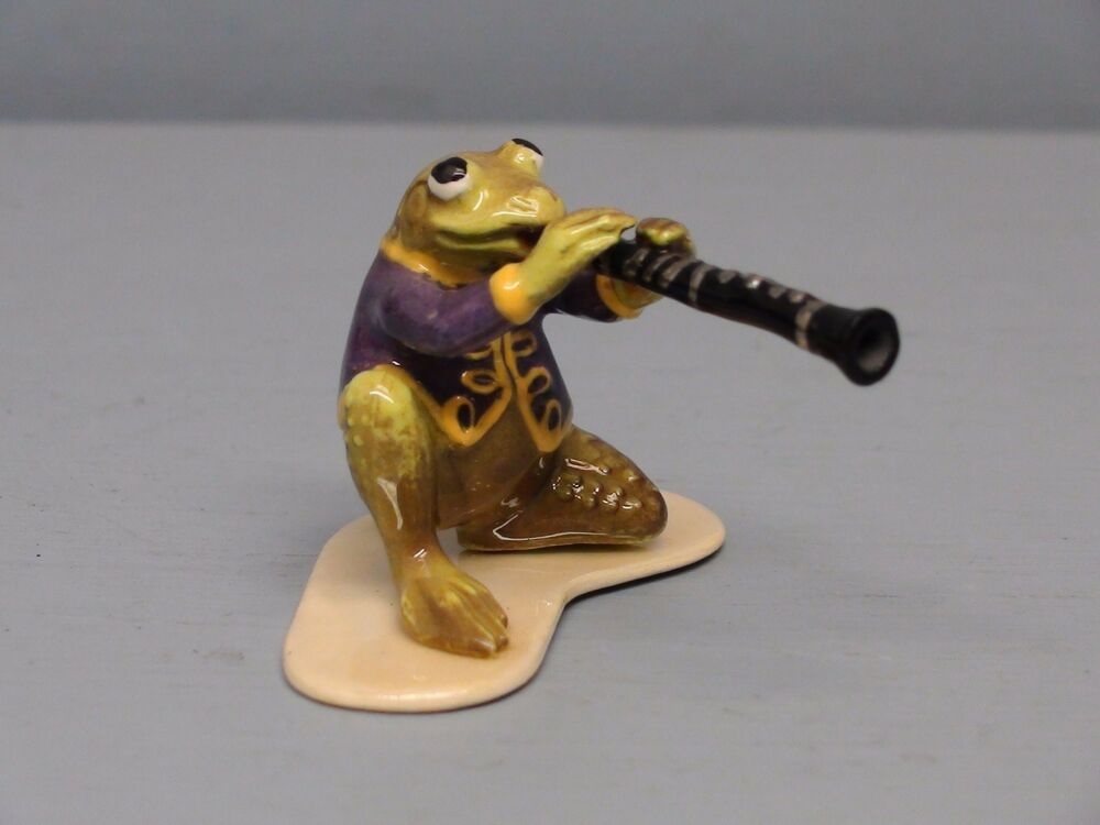 hagen renaker specialty frog playing clarinet ebay