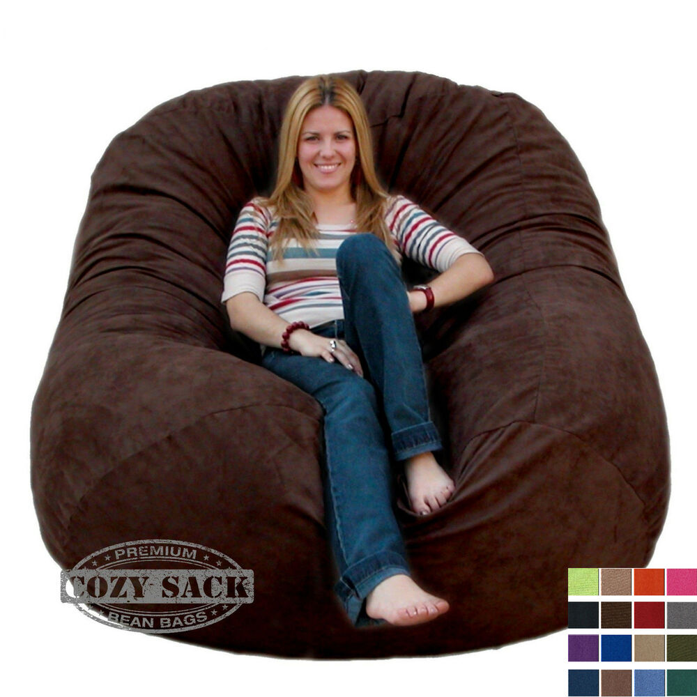 bean bag chairs by cozy sack premium xl 6 39 cozy foam chair factory direct ebay. Black Bedroom Furniture Sets. Home Design Ideas