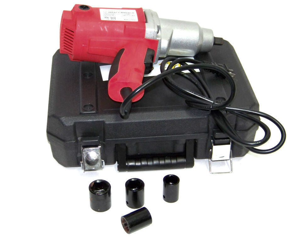 1 2 drive electric impact wrench with sockets ebay. Black Bedroom Furniture Sets. Home Design Ideas