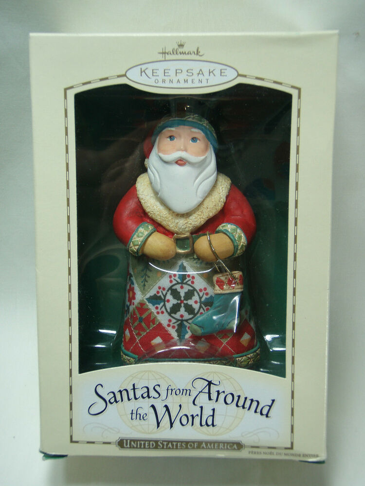 2004 hallmark keepsake ornament usa santas from around the Hallmark usa