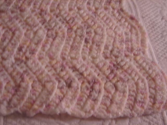 New Handcrafted Hand Crochet Baby Afghan Blanket Pink