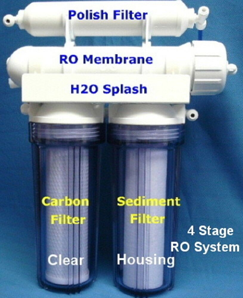 Ro 4 Stage 50 Gpd Clear No Tank Reverse Osmosis System