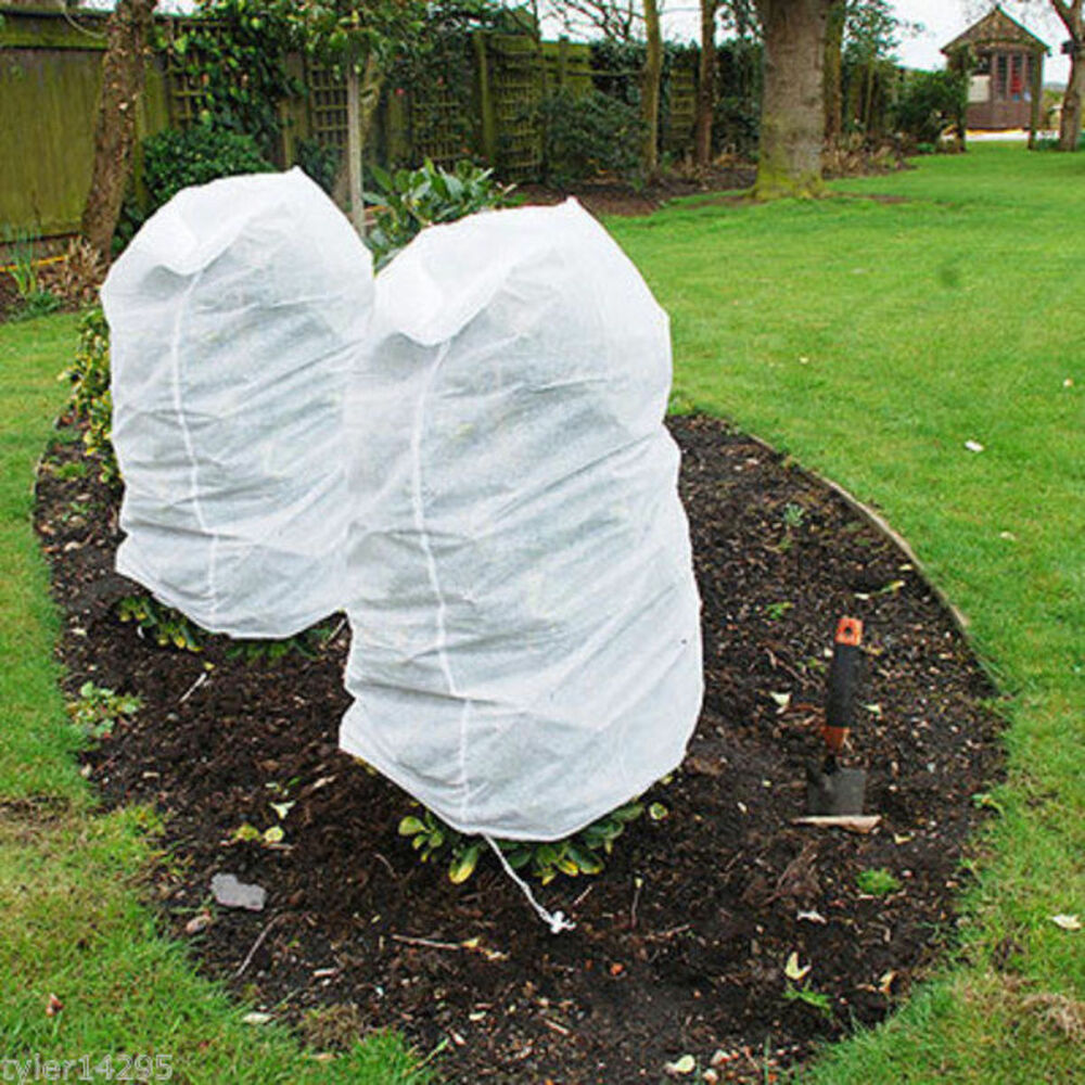4 X Plant Frost Protection Covers Warming Jackets Bag