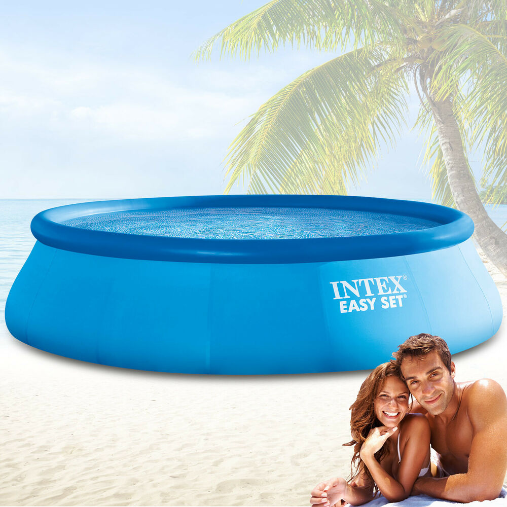 Intex 549x122 cm schwimmbecken swimming pool schwimmbad for Quick up pool obi