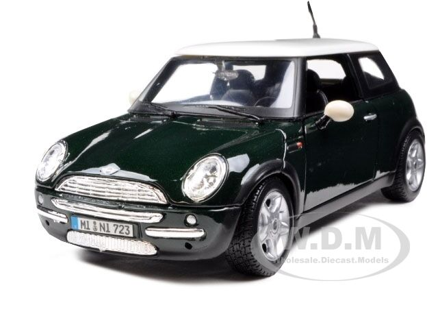 mini cooper green 1 24 diecast model car by maisto 31219 ebay. Black Bedroom Furniture Sets. Home Design Ideas