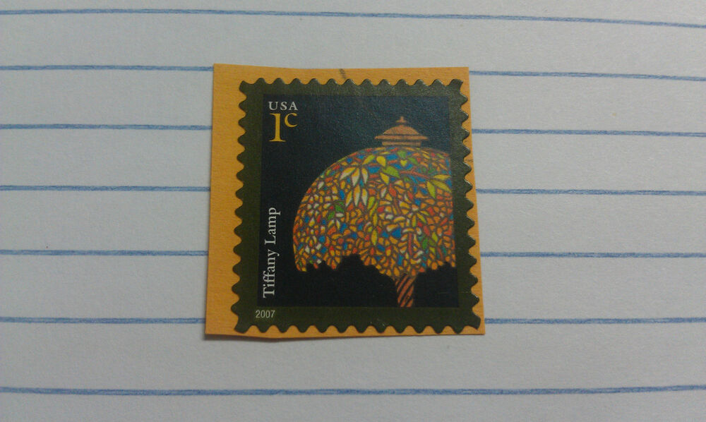 Stamp, USA, 1 cent, Tiffany Lamp, 2007