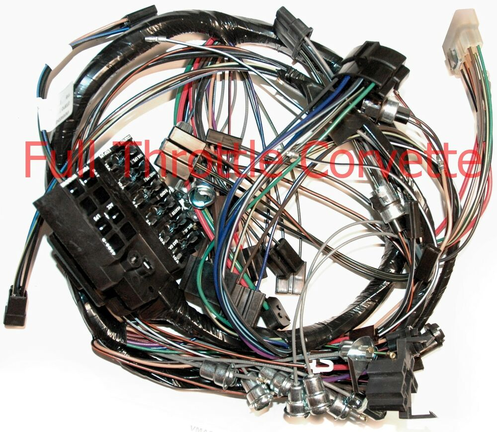 1964 64 corvette dash wiring harness without back up lights new ebay