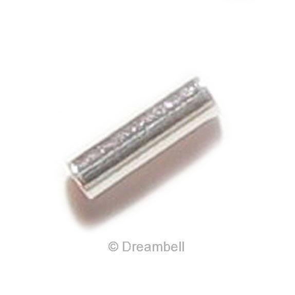Sterling silver tube spacer bead mmx mm ebay