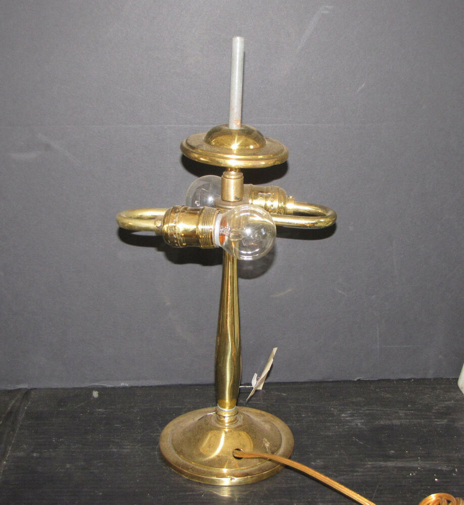 Two Arm Brass Desk Lamp No Shade 12110b Ebay