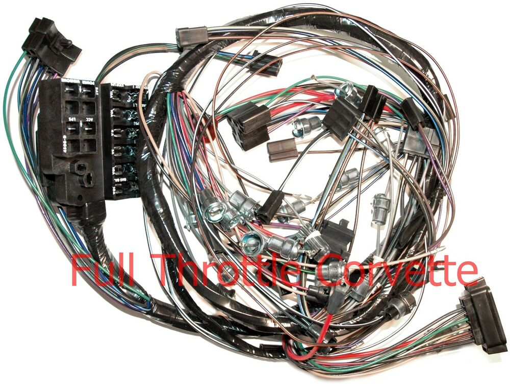 1965 65 Corvette Dash Wiring Harness For Vettes Without