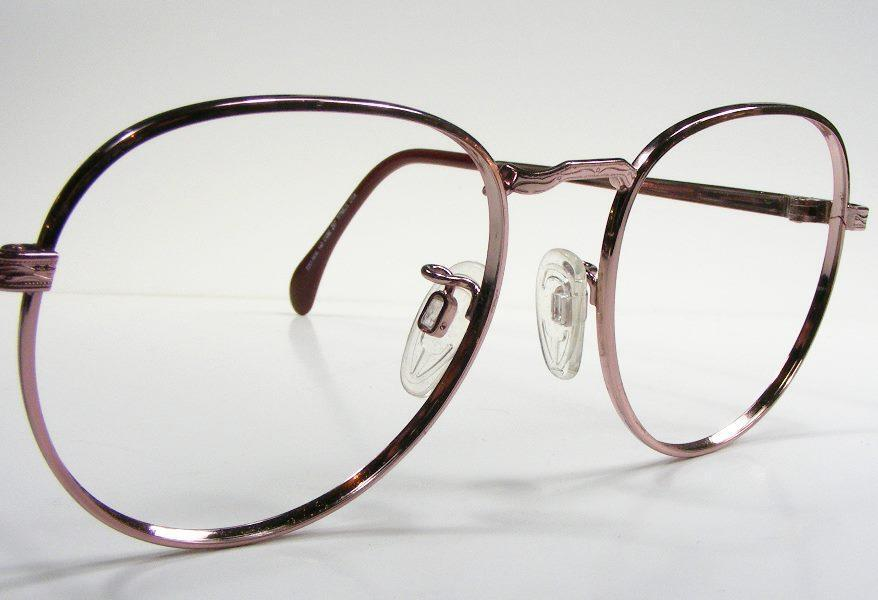 Eyeglass Frame Usa : Rose Gold USA Vintage Metal Wire Rim P3 Eyeglass Frame ...
