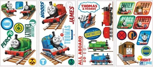 thomas the tank 33 big wall stickers percy james train room decor decals rm3 ebay. Black Bedroom Furniture Sets. Home Design Ideas