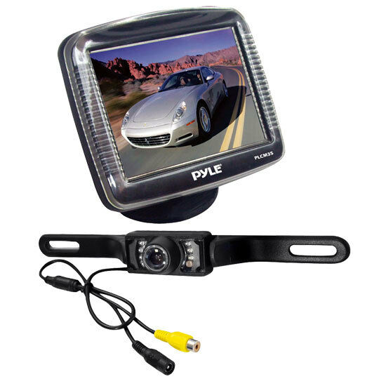 Pyle Backup Camera >> Pyle PLCM36 3.5' LCD Rear-view Night Vision Backup Camera w/ License Plate Mount | eBay
