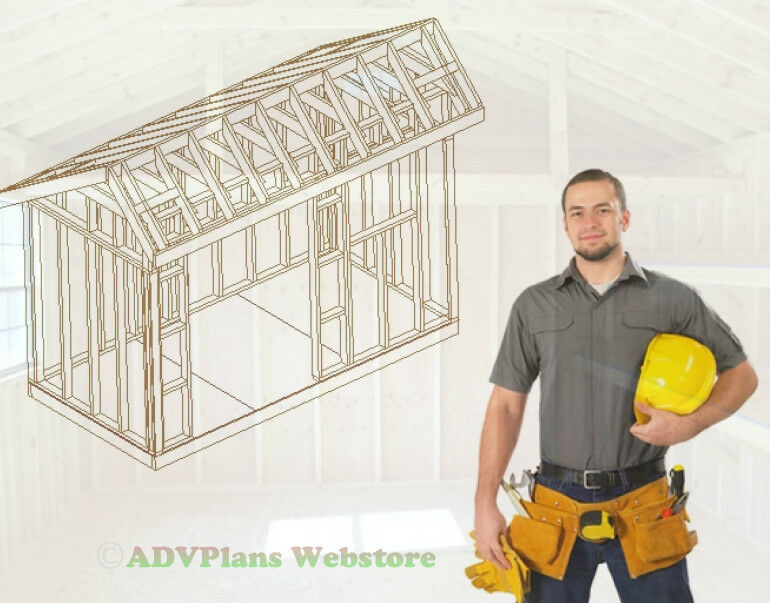 Do It Yourself Home Design: 6X12 SALTBOX STORAGE SHED BUILD YOUR OWN BARN, 26 PLANS