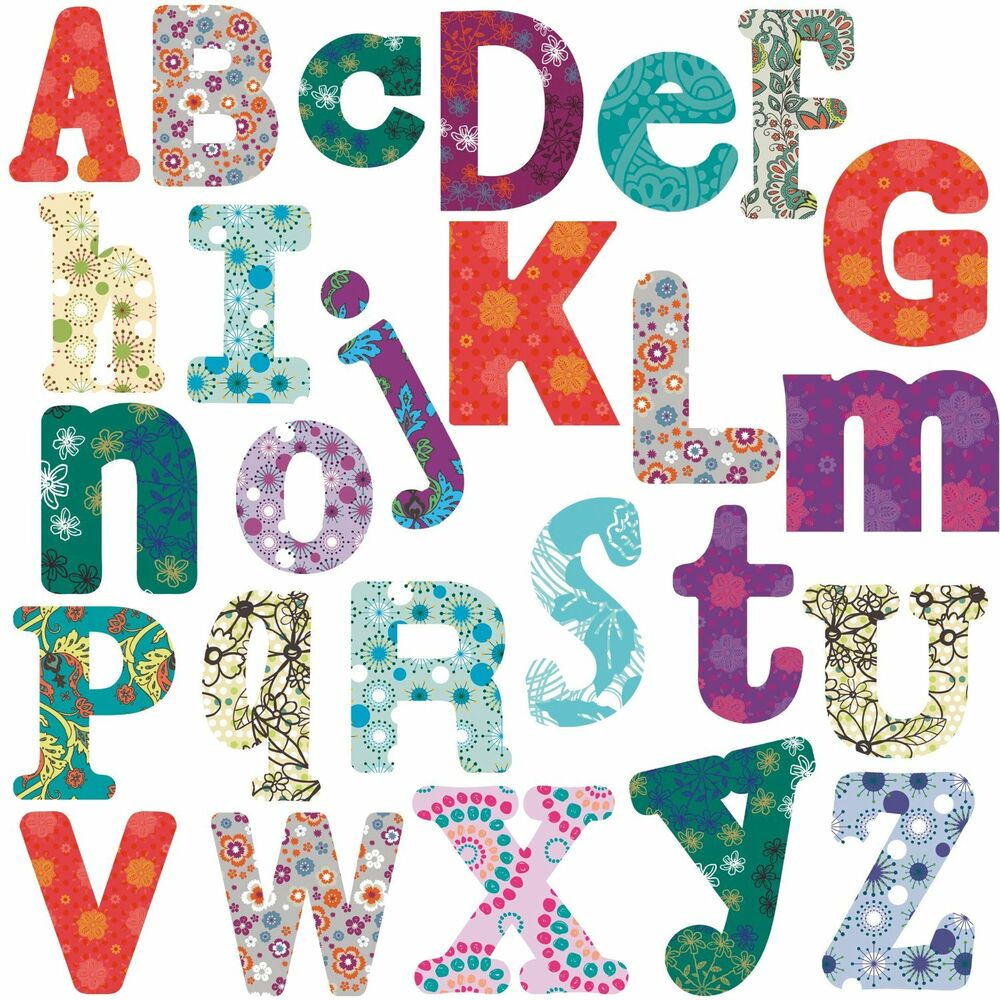 Boho alphabet big room decor wall stickers vinyl removable for Alphabet decoration