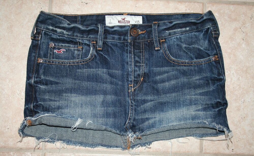 hollister womens juniors size 1 waist 25 jean denim skirt