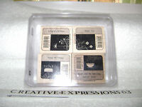 Stampin' Up 2007 Best Bar Codes Set Of 4 Rubber Stamps Excellent Condition