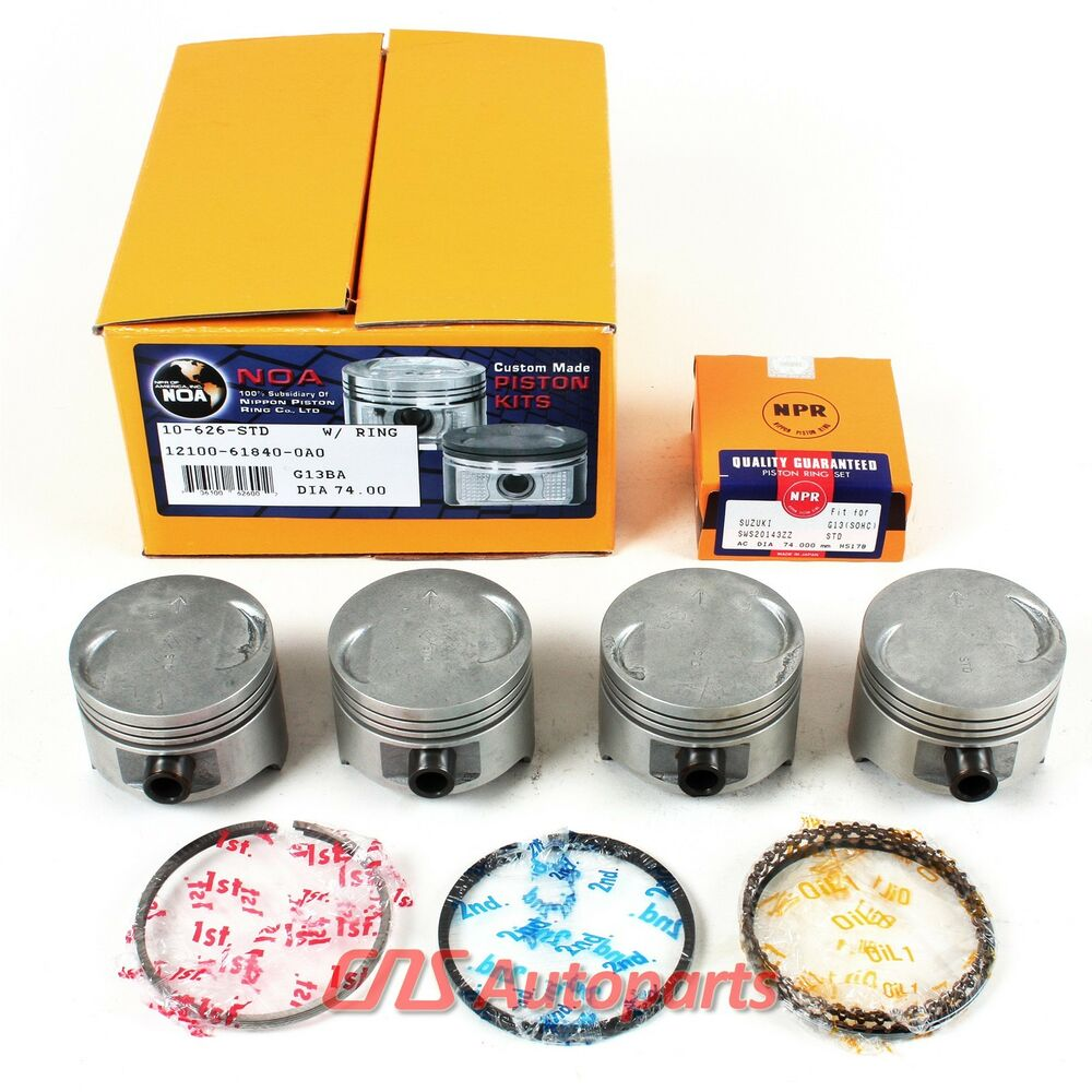 Turbo Kit Daihatsu: 89-99 SUZUKI SAMURAI SWIFT GLX 95-99 GEO METRO PISTONS