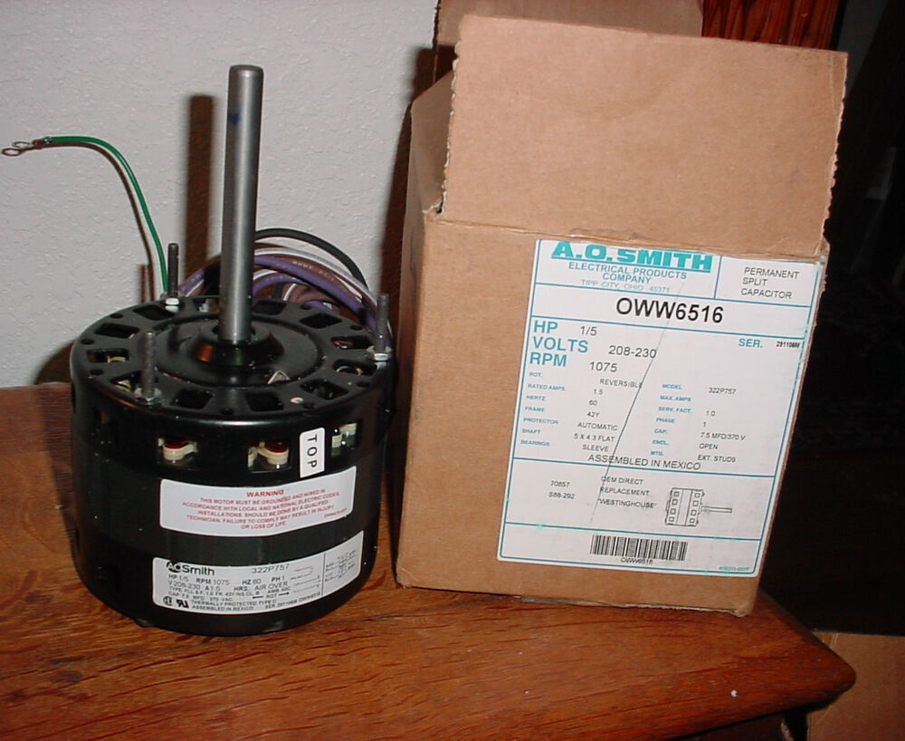Ao smith blower motor oww6516 oem replacement motor for Ao smith furnace motors
