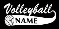 Volleyball with Name Vinyl Sports Decal 8186