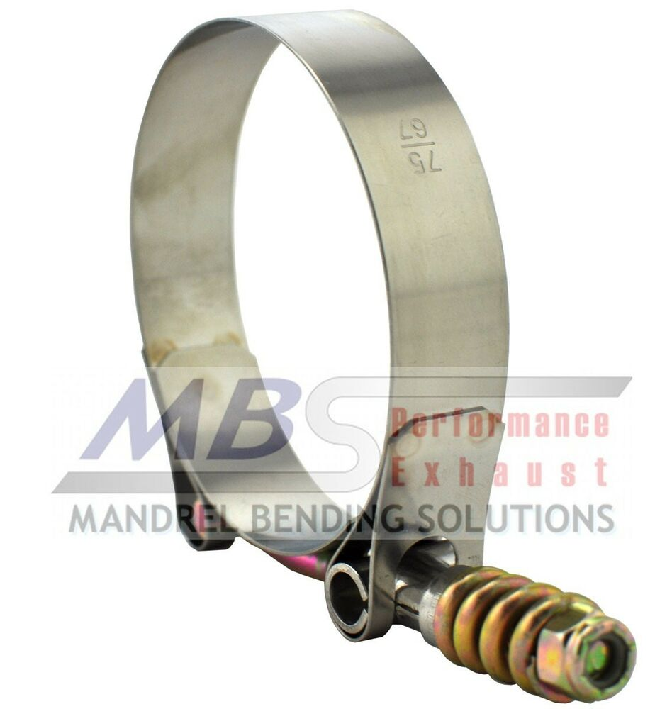 T bolt clamp quot spring loaded ss hose intake turbo