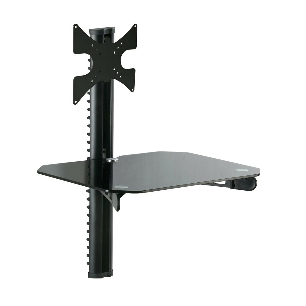 flat tv lcd led wall mount bracket with under av dvd. Black Bedroom Furniture Sets. Home Design Ideas