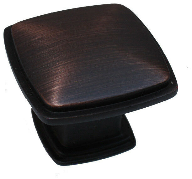 cabinet drawer square knobs ku091 brushed oil rubbed bronze pulls 1 3 16 ebay. Black Bedroom Furniture Sets. Home Design Ideas