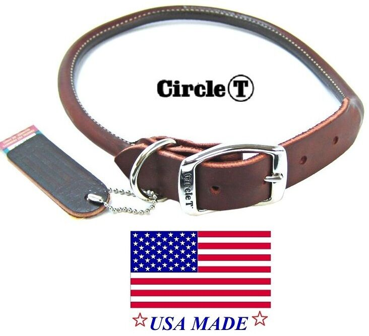Rolled Lether Dog Collar