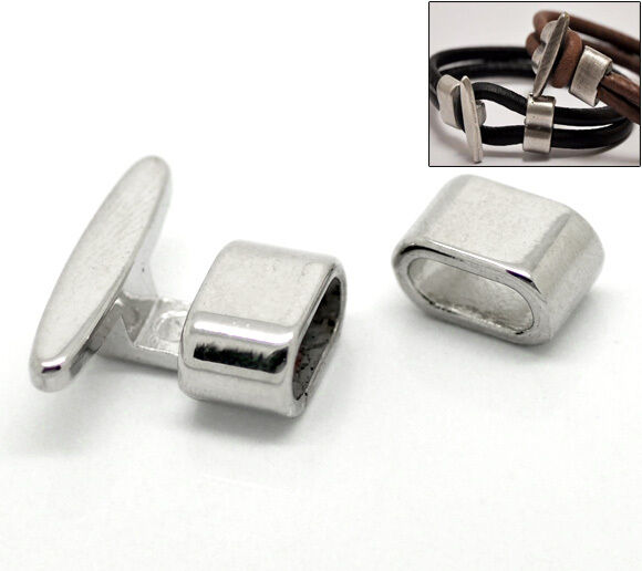 5 Sets Silver Tone Hook Clasps 23x19mm,13x8mm for Leather ...