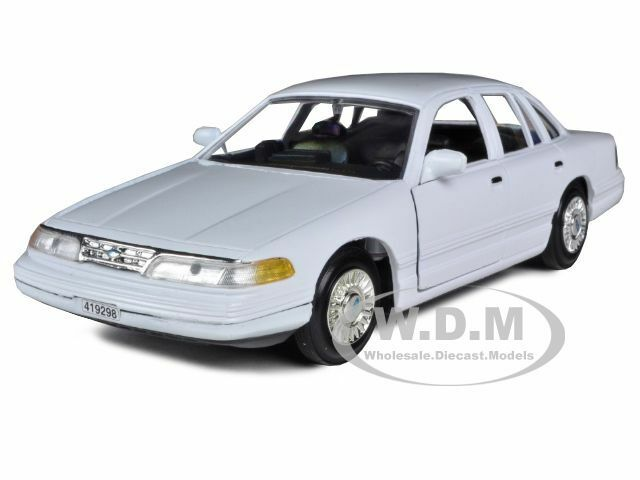 1998 ford crown victoria white 1 24 diecast car model by for Crown motors ford redding