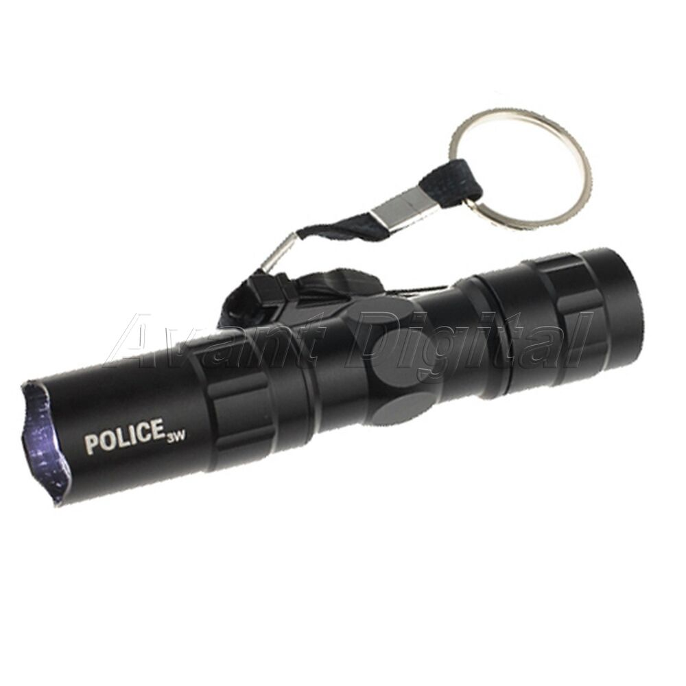 3w Police Led Flashlight Light Lamp Torch With Clip Clamp
