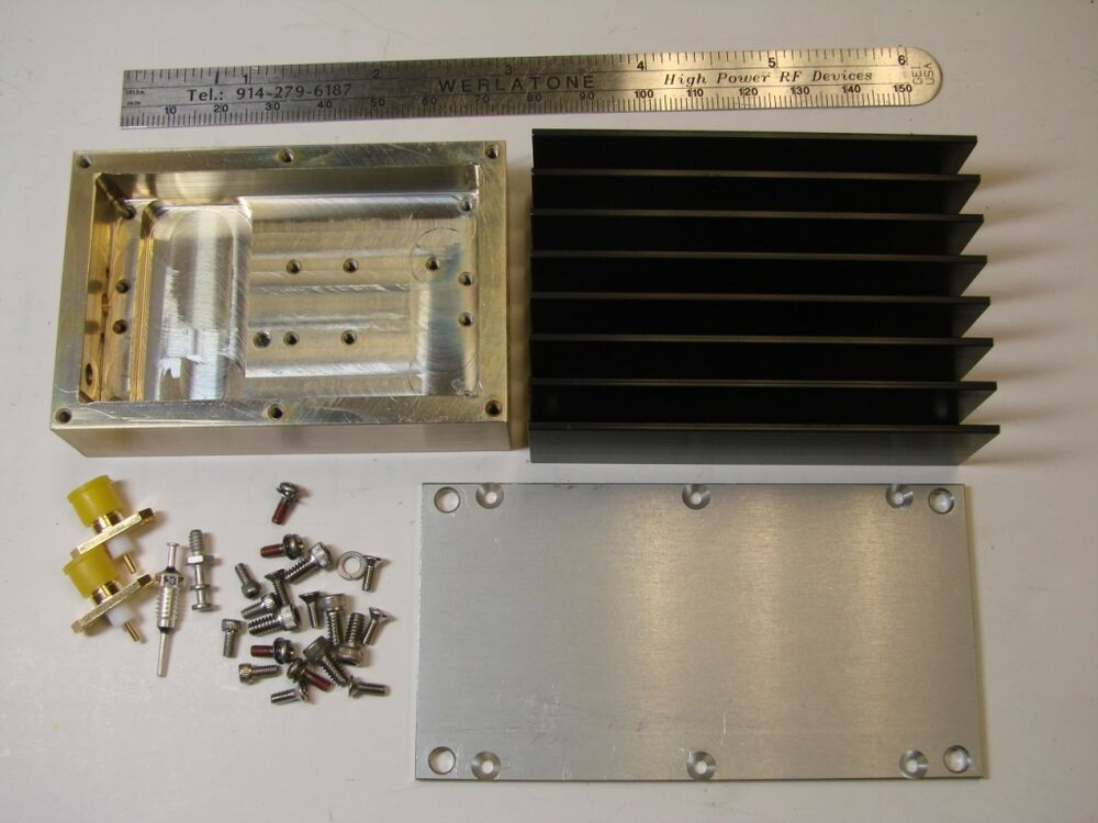 rf power amplifier housing kit with heatsink used for mpa series ebay. Black Bedroom Furniture Sets. Home Design Ideas