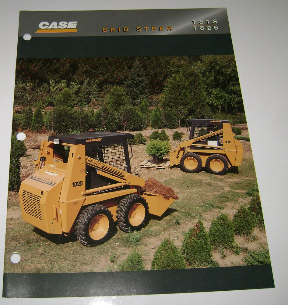 case 1818 1825 skid steer uni loader sales brochure