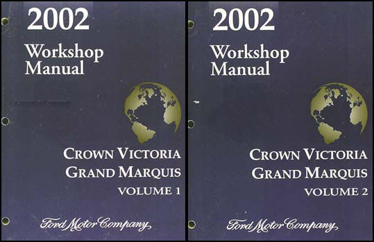 2002 Crown Victoria Grand Marquis Shop Manual Ford Mercury