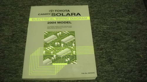 2004 Toyota Camry Solara Electrical Wiring Diagram Service Manual Feb Updated