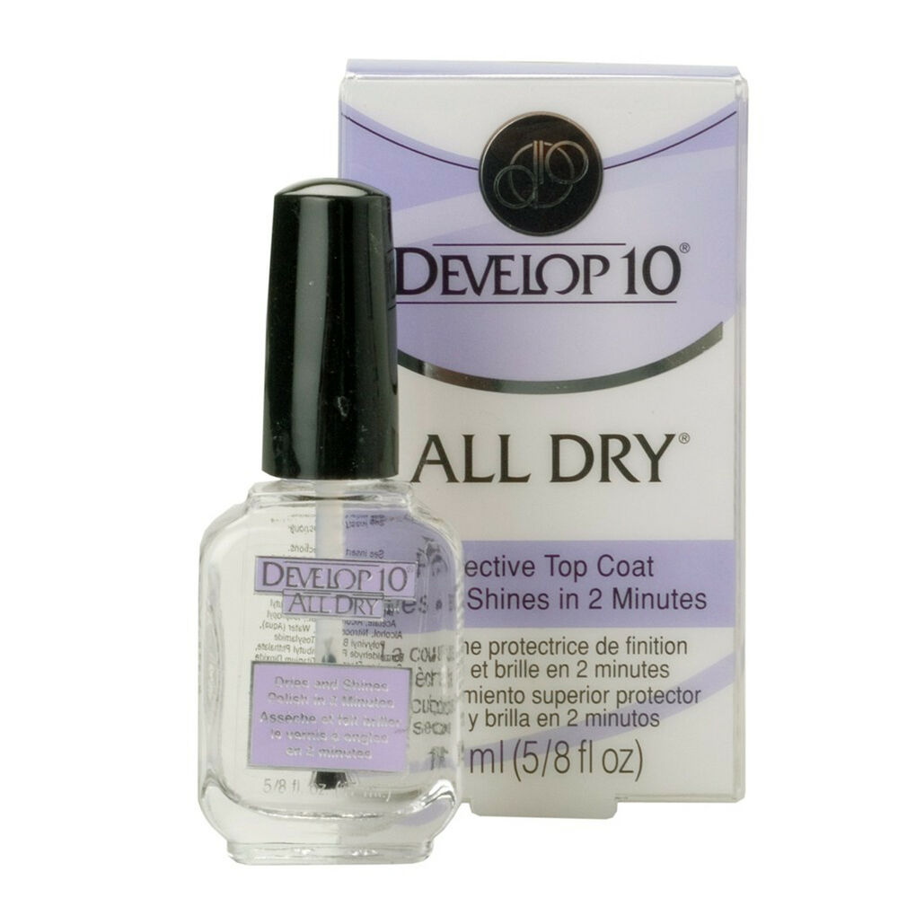Develop 10 All Dry 17ml Quick Nail Top Coat High Gloss Finish No Fade 750432505009 Ebay