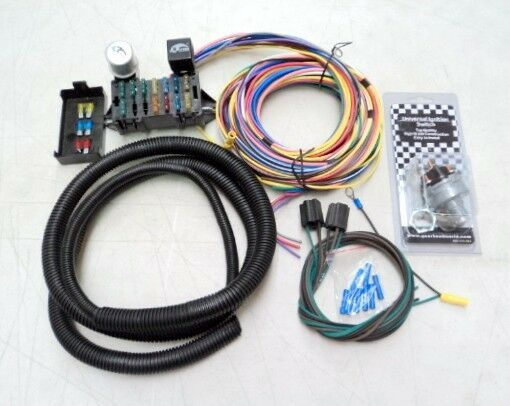 deluxe 15 universal street rod wiring wire kit bonus with ... wiring kits for street rods old ford wiring harness kits for cars #12
