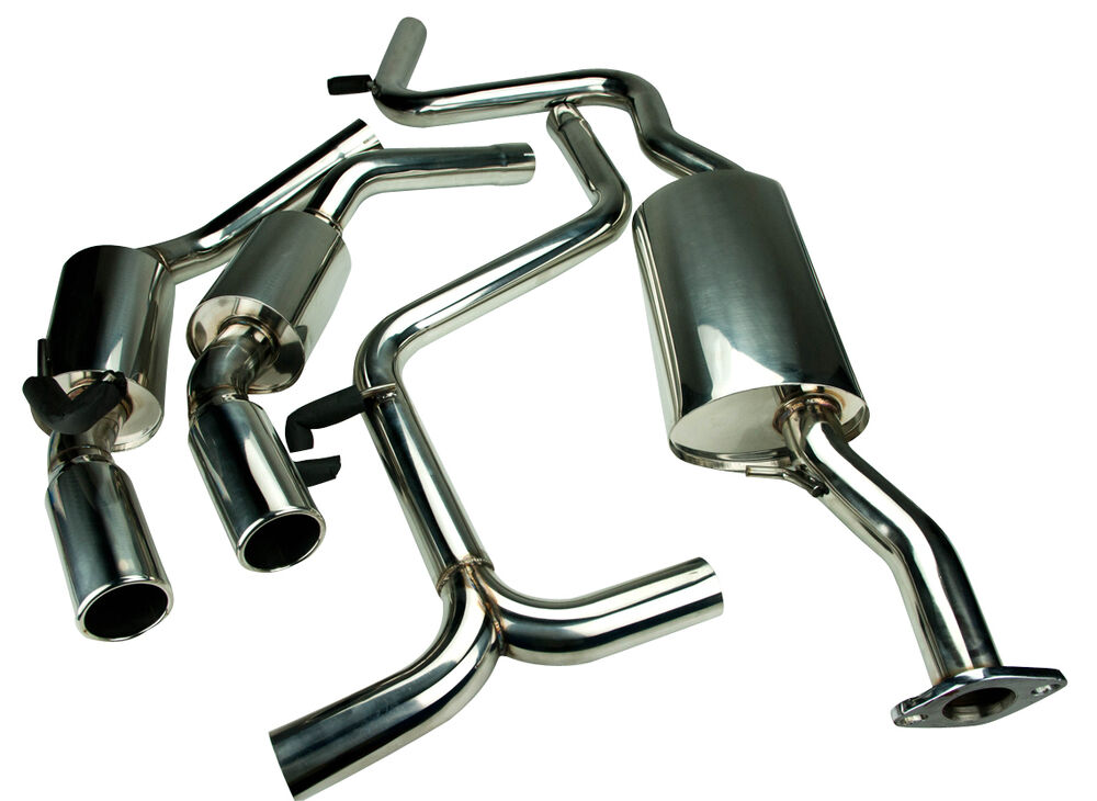 stainless steel exhaust twin exit for ford mondeo mk2 2 5 v6 st200 st24 ebay. Black Bedroom Furniture Sets. Home Design Ideas