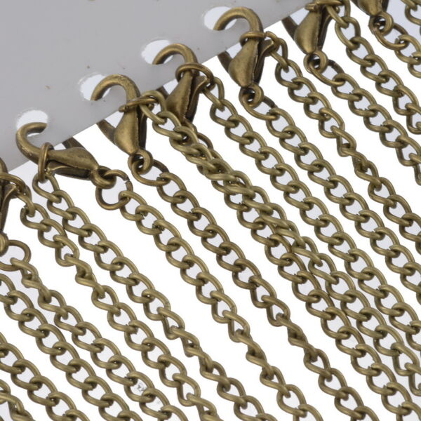 12Bronze Tone Lobster Clasp Chain Necklace3.5x2.6mm 18