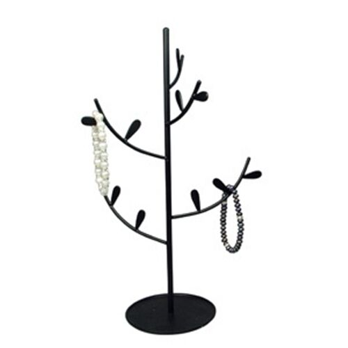 Black tree branch medium 12 metal jewelry display stand for Tree branch jewelry holder