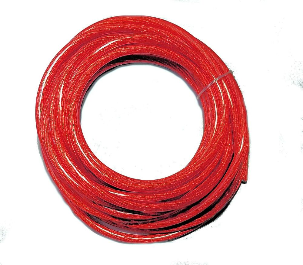 8 Gauge Power Wire Red 25 U0026 39  Feet High Quality Ga Guage