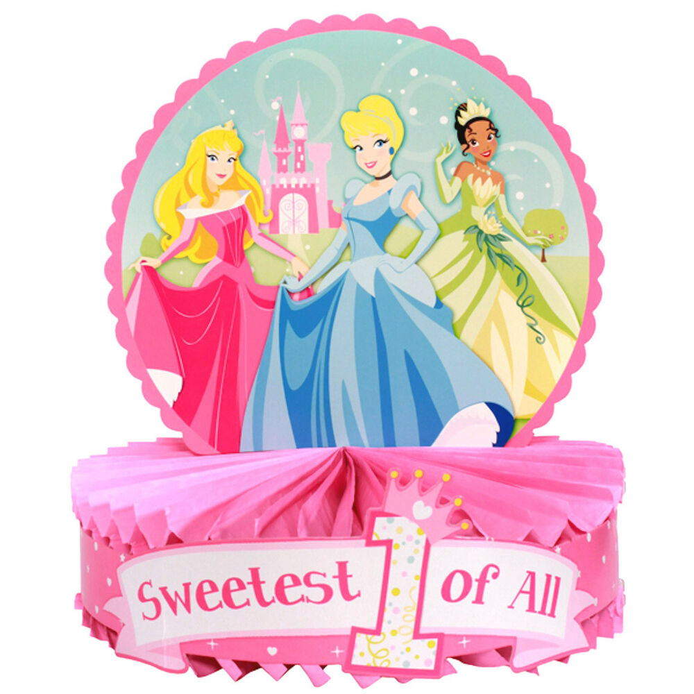 Disney Princess 1st Birthday Centerpiece 1pc Party