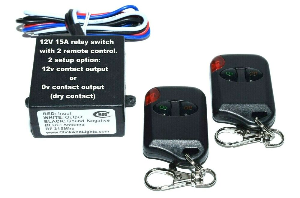 12v 15a 0v Output Dry Contact On Off Relay Wireless Remote