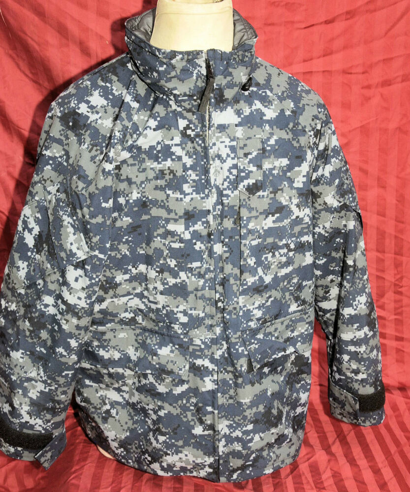 us navy nwu digital camouflage gore tex parka jacket. Black Bedroom Furniture Sets. Home Design Ideas