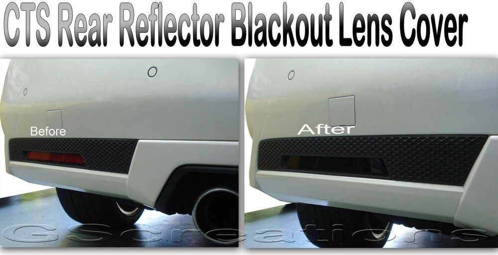 2011- 2014 Cadillac CTS & CTS-V Coupe Rear Reflector Blackout Lens Cover Kit | eBay